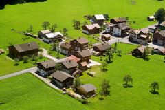 wioska szwajcarska fotografia stock