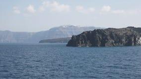 Wioska thira na santorini jak widzieć od ferryboat zdjęcie wideo