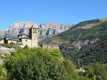 Wioska Torla, Pirineos fotografia royalty free