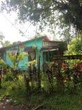 Wioska Tortuguero, domy, Costa Rica obraz stock