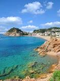 Wioska Tossa De Mar, Costa Brava, Catalonia, Hiszpania Fotografia Royalty Free