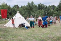 Wioska Vesele, nowa Kakhovka, Ukraina, 9 2018 Lipiec, zdjęcie stock