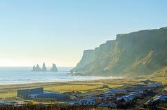 Wioska Vik na południowym wybrzeżu Iceland Obraz Royalty Free