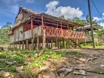Wioska w dżungli Zdjęcie Royalty Free