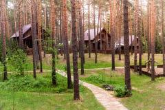 Wioska w drewnach Zdjęcie Royalty Free