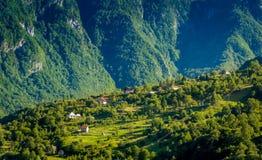 Wioska w górach Obraz Stock