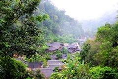 Wioska w górze Zdjęcie Stock