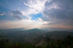 Wioska w górze Doi Mae Salong Zdjęcie Royalty Free