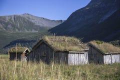 Wioska w górze, Herdal gospodarstwo rolne, Norwegia Zdjęcie Royalty Free