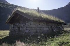 Wioska w górze, Herdal gospodarstwo rolne, Norwegia Obraz Stock