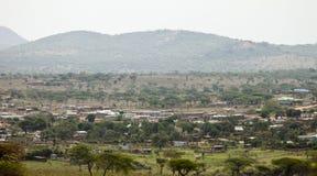 Wioska w Kenya Obrazy Stock