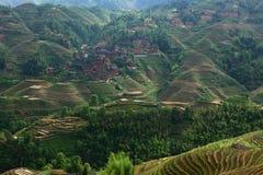 Wioska w Longji tarasie, Guilin Fotografia Stock