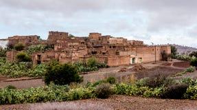 Wioska w Maroko, w atlancie, Afryka Obraz Royalty Free