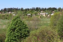 Wioska w polach dwa Obraz Stock