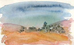 Wioska w pustyni Zdjęcia Stock