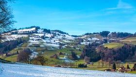 Wioska w Szwajcaria Zdjęcia Stock
