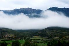 Wioska Wschodni Tybet Obrazy Stock