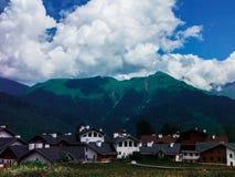 wioska wysokogórska Zdjęcia Stock