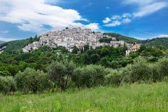 Wioska zwany Pretoro w Chieti prowinci (Włochy) Zdjęcia Royalty Free