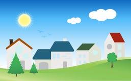 Wioski miasta domu wektor zdjęcie stock
