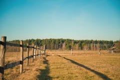 Wioski ogrodzenie Zdjęcia Royalty Free