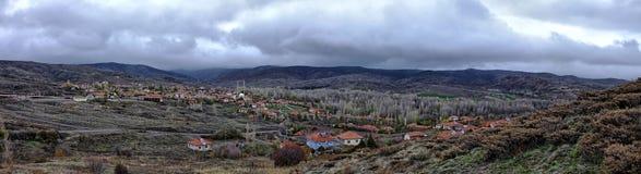 Wioski panorama obrazy royalty free