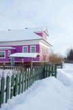 wioski rosyjska zima Fotografia Royalty Free