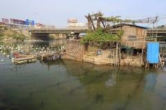 Wioski rybackiej chałupa Zdjęcie Royalty Free