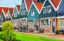Wioski rybackiej Volendam panoramicznego widoku Holandia holandie Obraz Stock