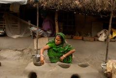Wioski życie Sunderban, India Fotografia Royalty Free