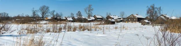 wioski zima Obrazy Royalty Free