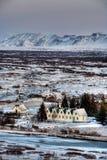 wioski zima Zdjęcia Royalty Free