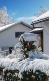 wioski zima Fotografia Royalty Free