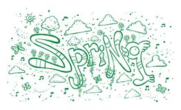 Wiosna ilustracji