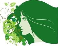 wiosna abstrakcjonistyczna kobieta Obraz Stock