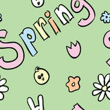 Wiosna Bezszwowy wzór Obraz Stock