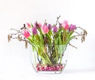 Wiosna bukiet Kolorowi tulipany Zdjęcie Stock