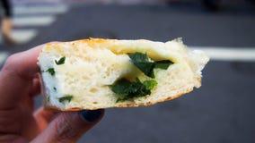 Wiosna Cebulkowy chiński gęsty naleśnikowy chleb obrazy stock