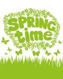 Wiosna czas… wzrastał liście, naturalny tło Zdjęcia Royalty Free