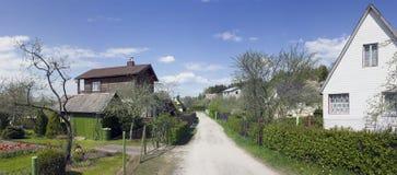 Wiosna czas w wiosce Obraz Royalty Free