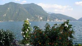 Wiosna czasu Lugano jezioro Szwajcaria zdjęcie royalty free