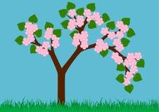 wiosna drzewo Ilustracja Wektor