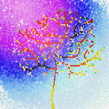 Wiosna, drzewo niebo galaxy Zdjęcia Stock