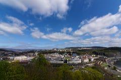 Wiosna dzień w Usti nad Labem Zdjęcia Stock