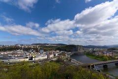 Wiosna dzień w Usti nad Labem Obraz Royalty Free