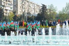 Wiosna festiwal kwiaty, szkolny festiwal w Baku mieście Zdjęcie Stock