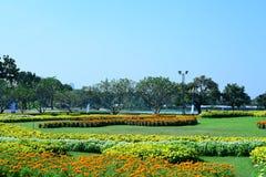 Wiosna Formalny ogród kwiatu piękny kolorowy ogród obrazy royalty free