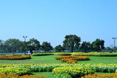 Wiosna Formalny ogród kwiatu piękny kolorowy ogród obraz stock