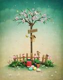 Wiosna gazon ilustracja wektor