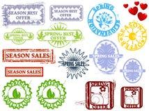 wiosna gumowi znaczki Obrazy Stock